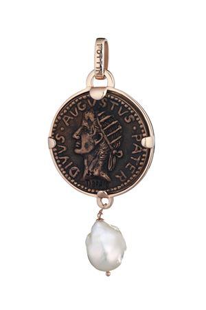 Cesar Augustus coin pendant Puttini Capri jewels Angela Puttini Gioielli | 5032249 | SCAP70DTGPARG BRON