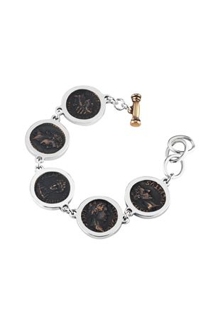 Silver and bronze bracelet with coins Angela Puttini Gioielli | 36 | SCAP7ARG BRONZO