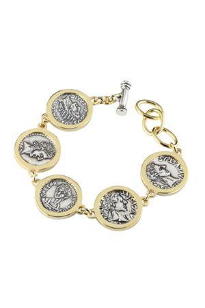 Silver bracelet with Cesar Augustus Coins Angela Puttini Gioielli | 36 | SCAP7BDORATO