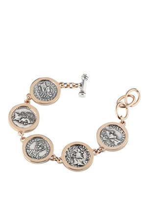 Rosy silver bracelet with coins Angela Puttini Gioielli | 36 | SCAP7CARG ROSATO