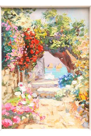 Faraglioni of Capri Island Oil on Canvas Antonio Palomba | 20000003 | CECILIAOLIO SU TELA