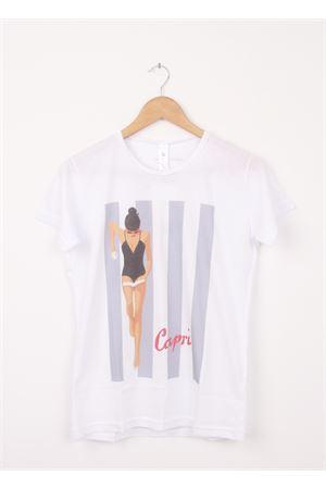 T-shirt in cotone Capri Aram V Capri | 8 | 100002012GRIGIO