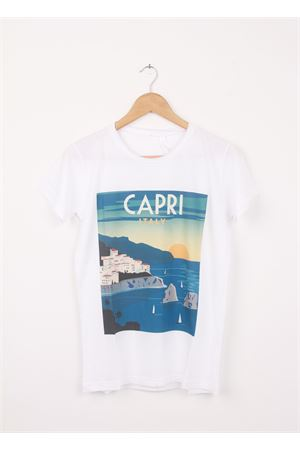 Cotton T-shirt Capri Italy Aram V Capri | 8 | 100002016VERDE