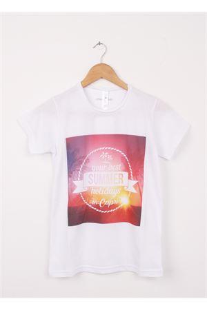 Cotton T-shirt Your best summer holidays in capri Aram V Capri | 8 | 177420851ROSA