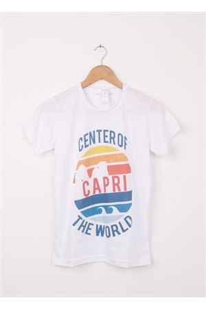 T-shirt in cotone Capri Center of the World Aram V Capri | 8 | 240125272ARANCIO
