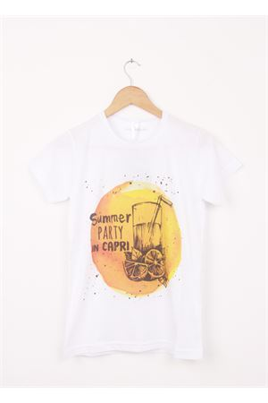 Cotton T-shirt Summe party in Capri Aram V Capri | 8 | 297390491ARANCIO