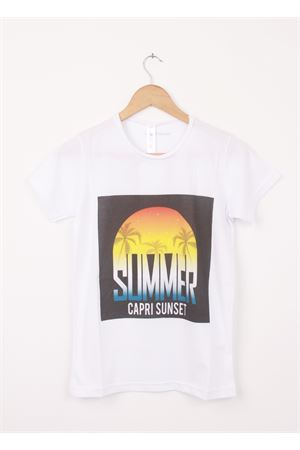 T-shirt in cotone Summer Capri Sunset Aram V Capri | 8 | 451975768NERO