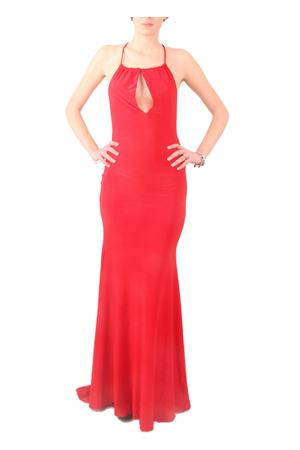 Long red dress with strappy back Aram V Capri | 5032262 | MDFW16CSRROSSO