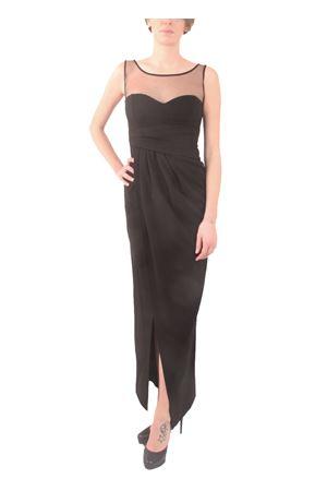 Black elegante dress with sweetheart neckline Aram V Capri | 5032262 | MDFW16SCTBNERO
