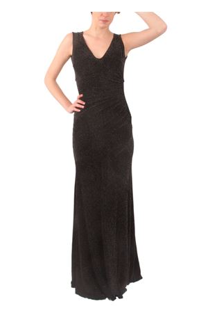 Long metallic open back dress Aram V Capri | 5032262 | MDFW16SLBNERO