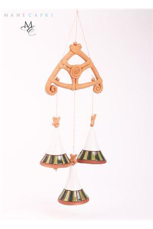 Decorazione con Campanelle di capri in ceramica Capri Bell | 20000008 | 20003227TRE CAMPANELLE SMALTATE