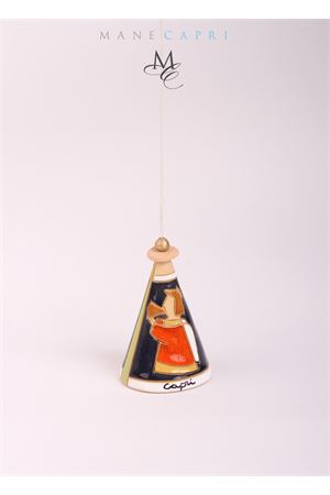 Capri bell in ceramic with an Angel painting Capri Bell | 20000008 | 20101046S.MICHELE MED