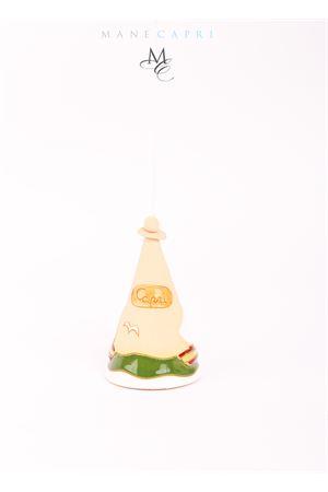 Campanella portafortuna in ceramica con mare di Capri Capri Bell | 20000008 | 20101077MARE CAPRI MED