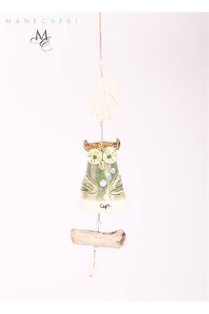 Ceramic Capri bell charm Owl-shaped Capri Bell | 20000008 | 20103590GUFO