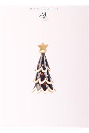 Campanella di Capri portafortuna a forma di abete natalizio blu da collezione Capri Bell | 20000008 | 20104962ALBERO NATALE STRETTO