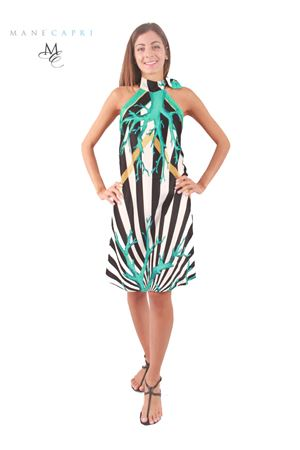 Silk dress with coral print Capri Chic | 5032262 | ABITO CORALTURCHESE