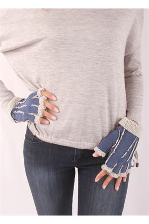 Fingerless lined gloves Capri Gloves | 34 | CG213BLU