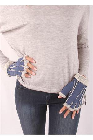 Guanti senza dita in pelle foderati Capri Gloves | 34 | CG213BLU