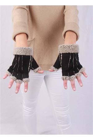 Guanti senza dita in pelle foderati Capri Gloves | 34 | CG213NERO
