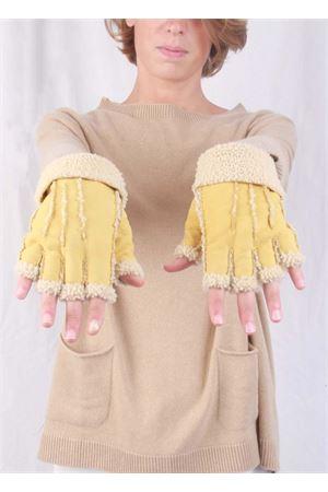 Guanti senza dita in pelle foderati Capri Gloves | 34 | CG213SENAPE