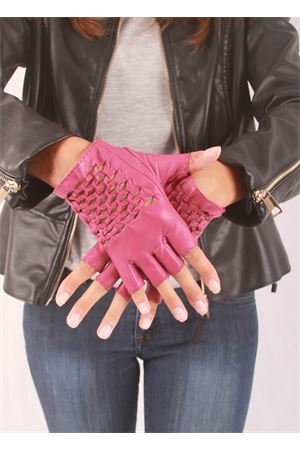Guanti artigianali senza dita in pelle rosa Capri Gloves | 34 | CG632ROSA