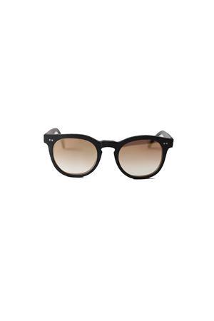 Occhiali da sole artigianali neri con lenti specchiate oro Capri People | 53 | MARE4922.27007G