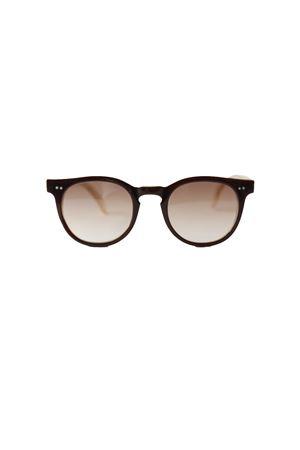 Occhiali da sole artigianali marroni con lente sfumata Capri People | 53 | MARE4922.3M1451