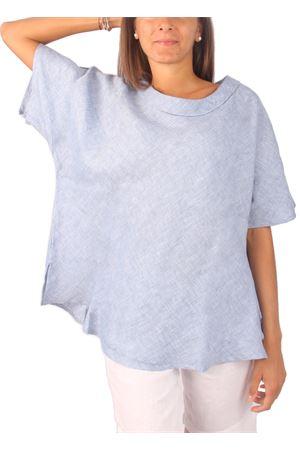 100% linen woman blouse Colori Di Capri | 20000031 | BLOUSE ANELLOAZZURRO