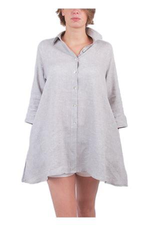 Camicia in lino grigio Colori Di Capri | 6 | COMFORT SVASATAGRIGIO