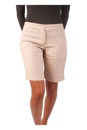 beige linen bermuda shorts Colori Di Capri | 9 | CORTODONNABEIGE