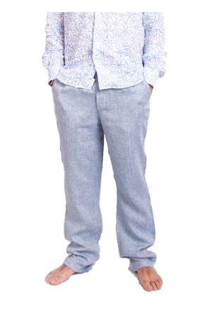 Pantalone in lino da uomo Colori Di Capri | 9 | PANTALINOAZZURRO