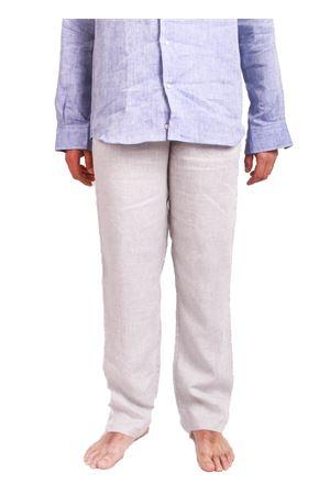 Pantalone in lino da uomo grigio Colori Di Capri | 9 | PANTALINOGRIGIO