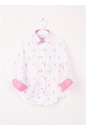 Baby cotton shirt with sea horses Colori Di Capri | 6 | SEAHORSE BABYROSSO
