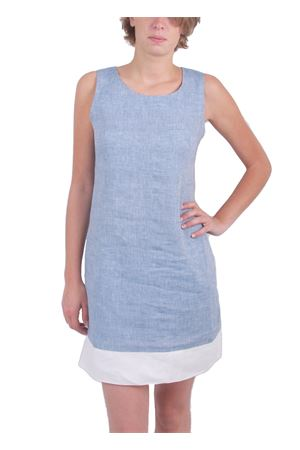Light blue linen mini dress Colori Di Capri | 5032262 | TUBINO PIGNAAZZURRO