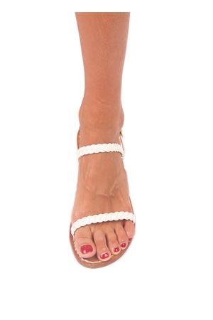 Sandali capresi artigianali con doppia fascia Cuccurullo | 5032256 | DOPPIA TRECCIABIANCO