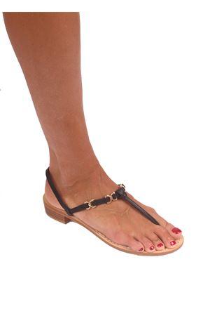Handmade black Capri sandals Cuccurullo   5032256   FARFALLA HEELNERO