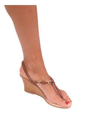 Sandali capresi artigianali con zeppa Cuccurullo | 5032256 | FARFALLA ZEPPAMARRONE