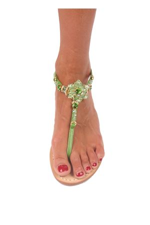 Wedge Capri sandals Cuccurullo | 5032256 | FLOWER ZEPPAVERDE