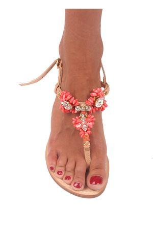 Handmade Capri sandals with low heel Cuccurullo | 5032256 | GAIA HEELROSA