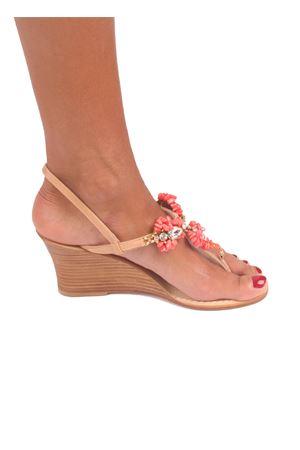 Handmade Capri jewel sandals with wedge Cuccurullo | 5032256 | GAIA ZEPPAROSA