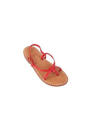Red Capri sandals for babygirl Cuccurullo | 5032256 | INCROCIO ROSSOROSSO