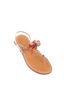 Capri sandals with shells and corals Cuccurullo | 5032256 | SHELLANDCORALSORO