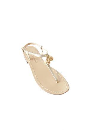 Handmade Capri sandals with Lucky Capri Bells Da Costanzo | 5032256 | CAPRI BELL PINKROSA/ORO