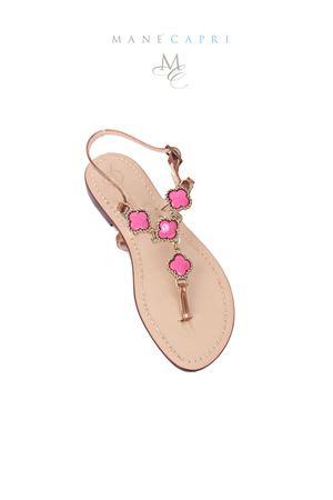 Sandali infradito con pietre rosa Da Costanzo | 5032256 | M/61535ROSA