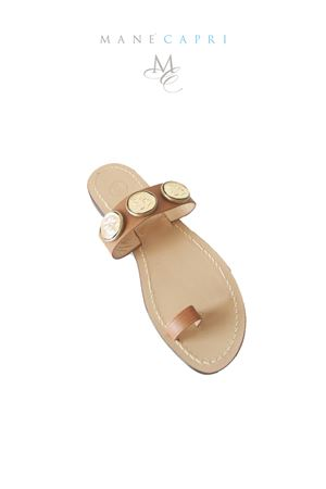 Capri handmade sandals with coins Da Costanzo | 5032256 | MONETE 3MARRONE