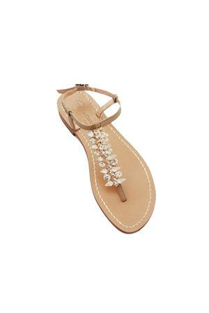 Sandali Capresi gioiello artigianali con Swarovsky Da Costanzo | 5032256 | SPINAGRIGIO