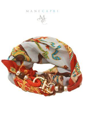 Foulard in seta di Como con decorazioni Grakko Fashion | -709280361 | GRHORSEROSSO