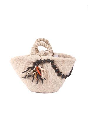 Borsa artigianale in paglia con applicazioni di coralli Grakko Fashion | 31 | SEASTAR BAGNERO