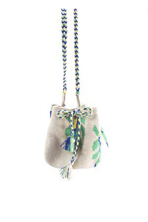 Handmade beige and green shoulder bag Guanabana | 31 | GI2W0001936VERDE
