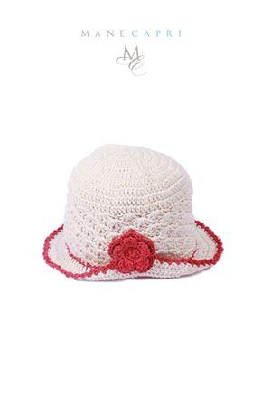 Cappello per neonata con risvolto e fiore La Bottega delle Idee | 26 | C100BPANNA
